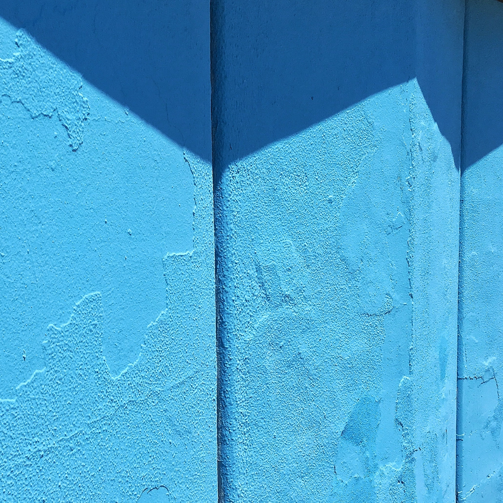 blue concrete wall