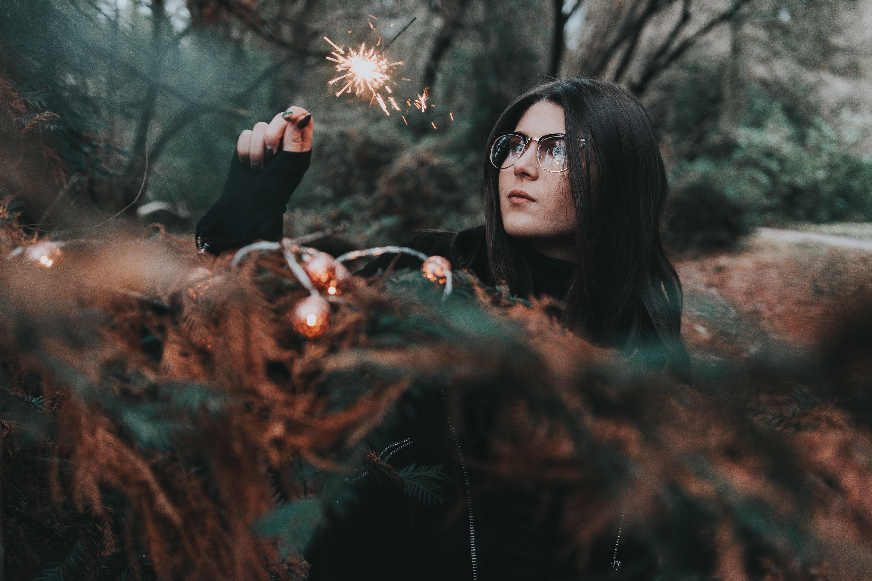 woman in black top tilt photography