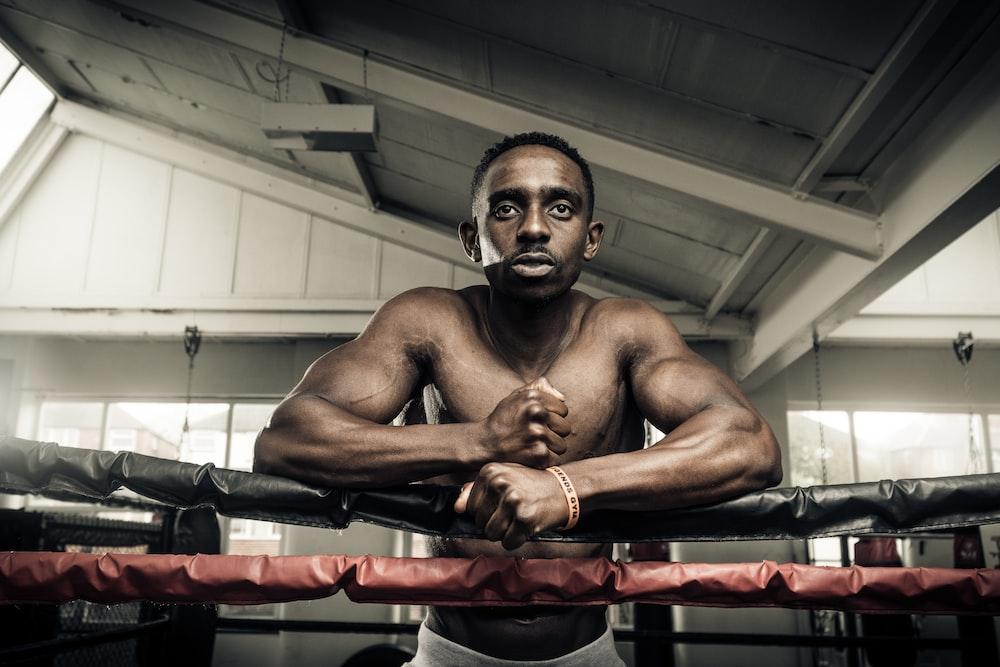 man on boxing ring