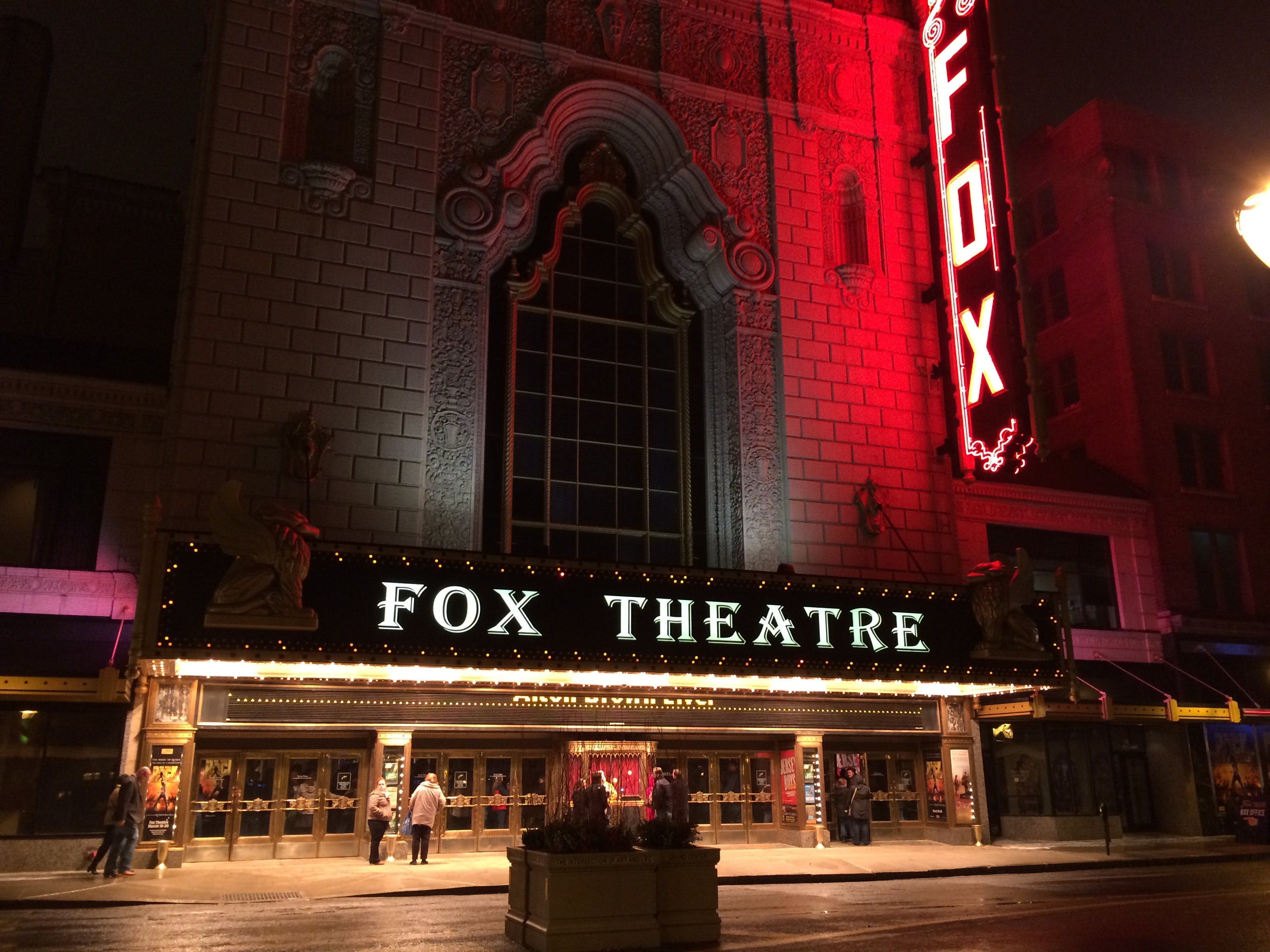 Fox Theatre at nighttime