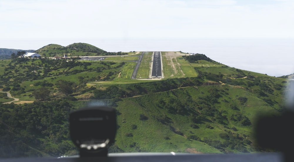 aerial photography of runway at daytime