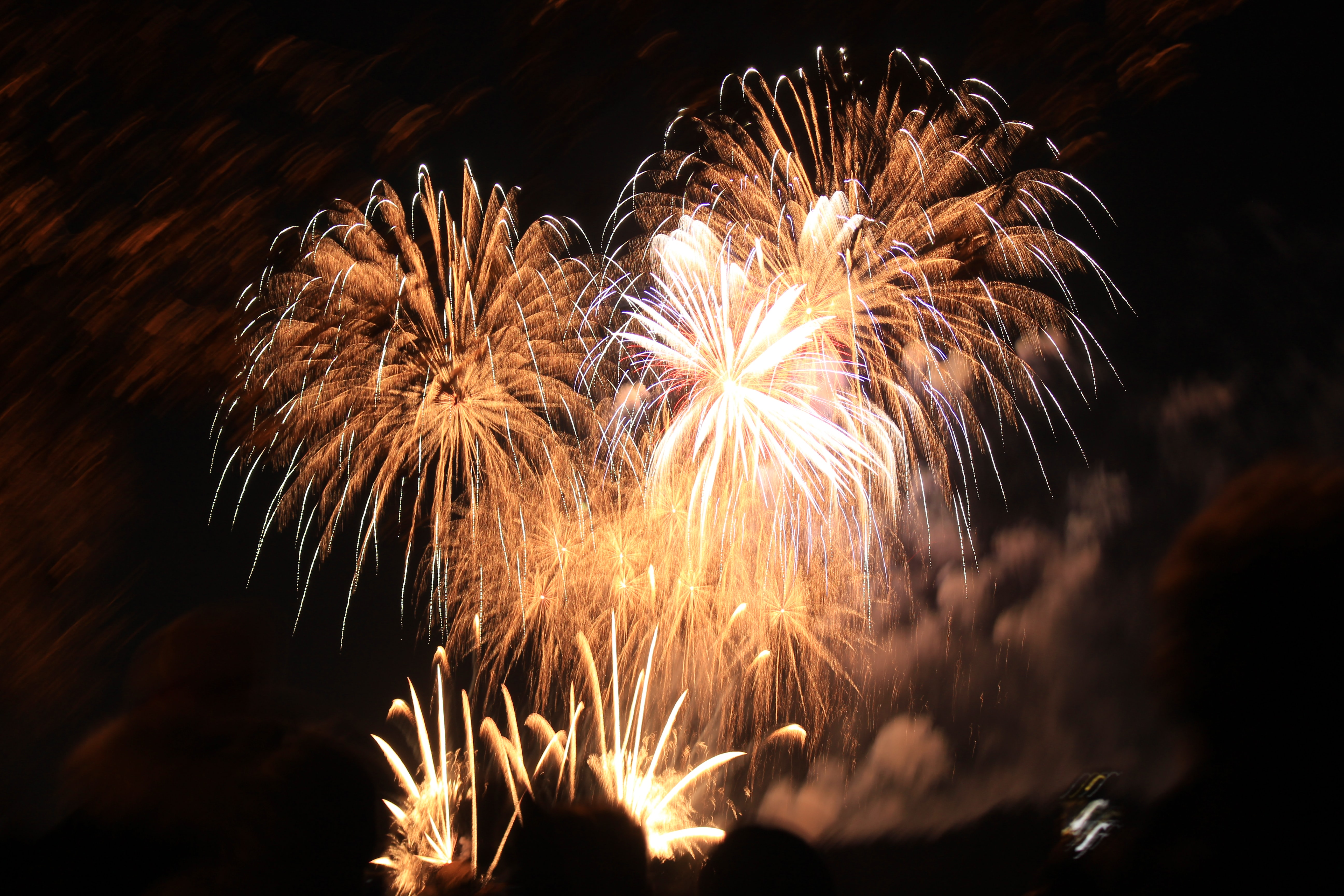 low angle-view of fireworks