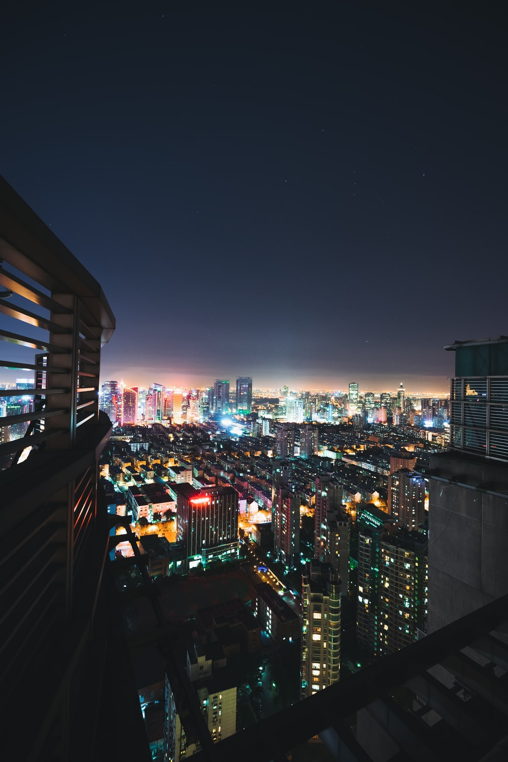 high angle-view of high rise buildings