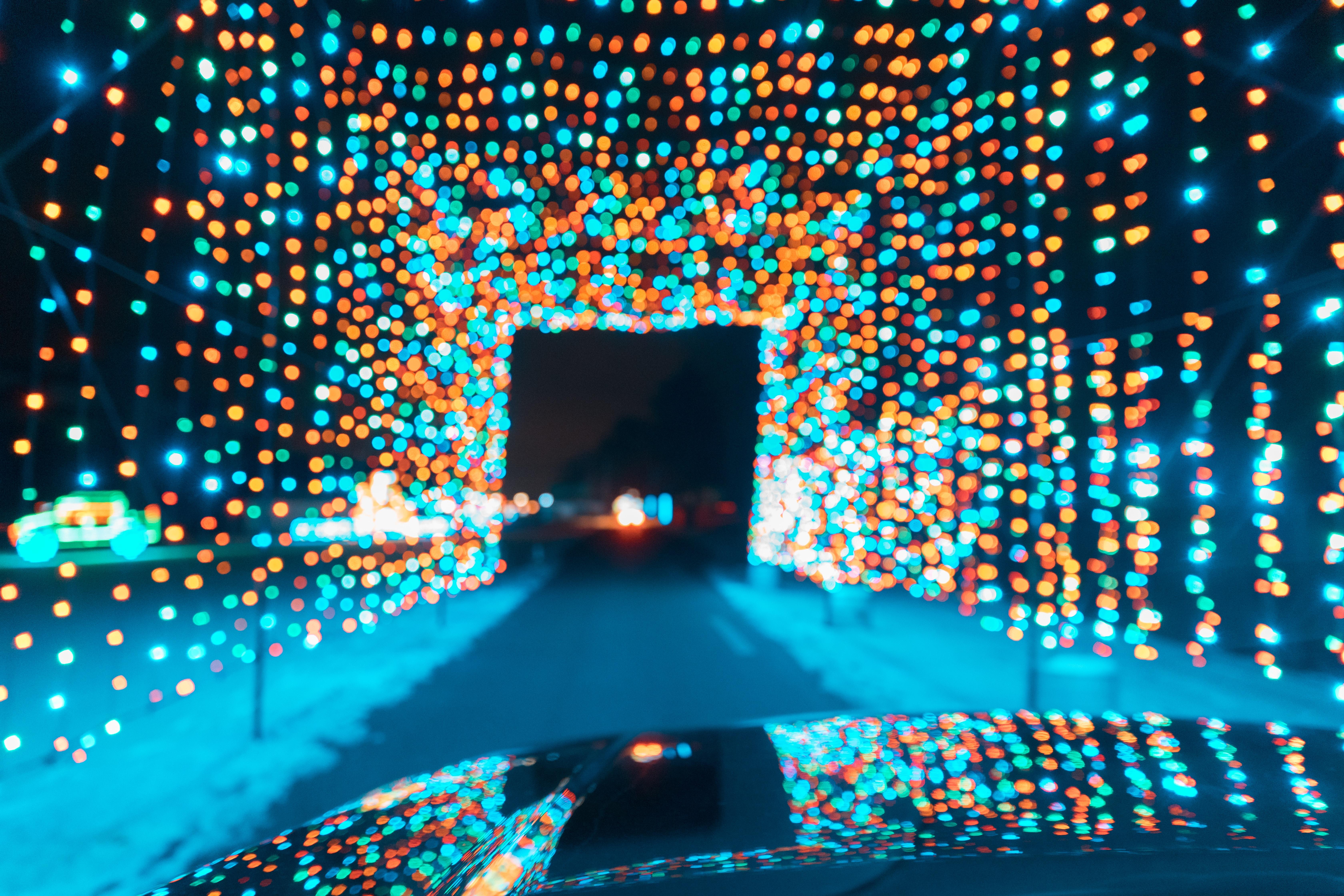 multicolored light fixture
