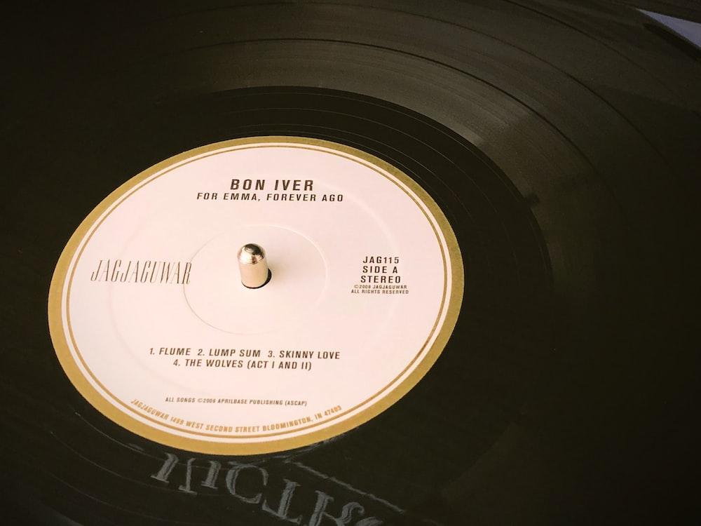 photo of Bon Iver vinyl record