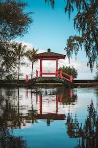 pagoda on bridge