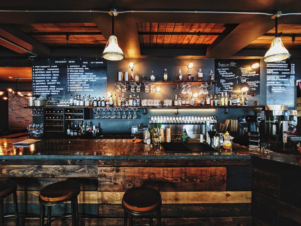 brown-themed bar