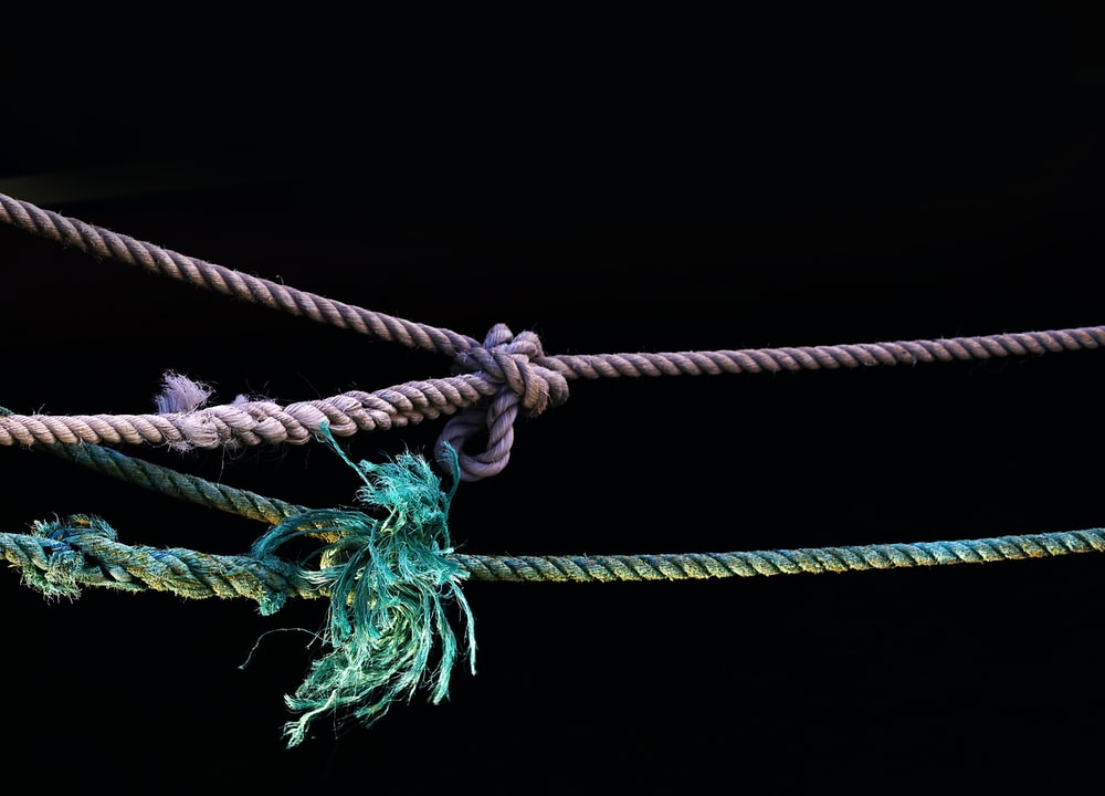 purple and green ropes