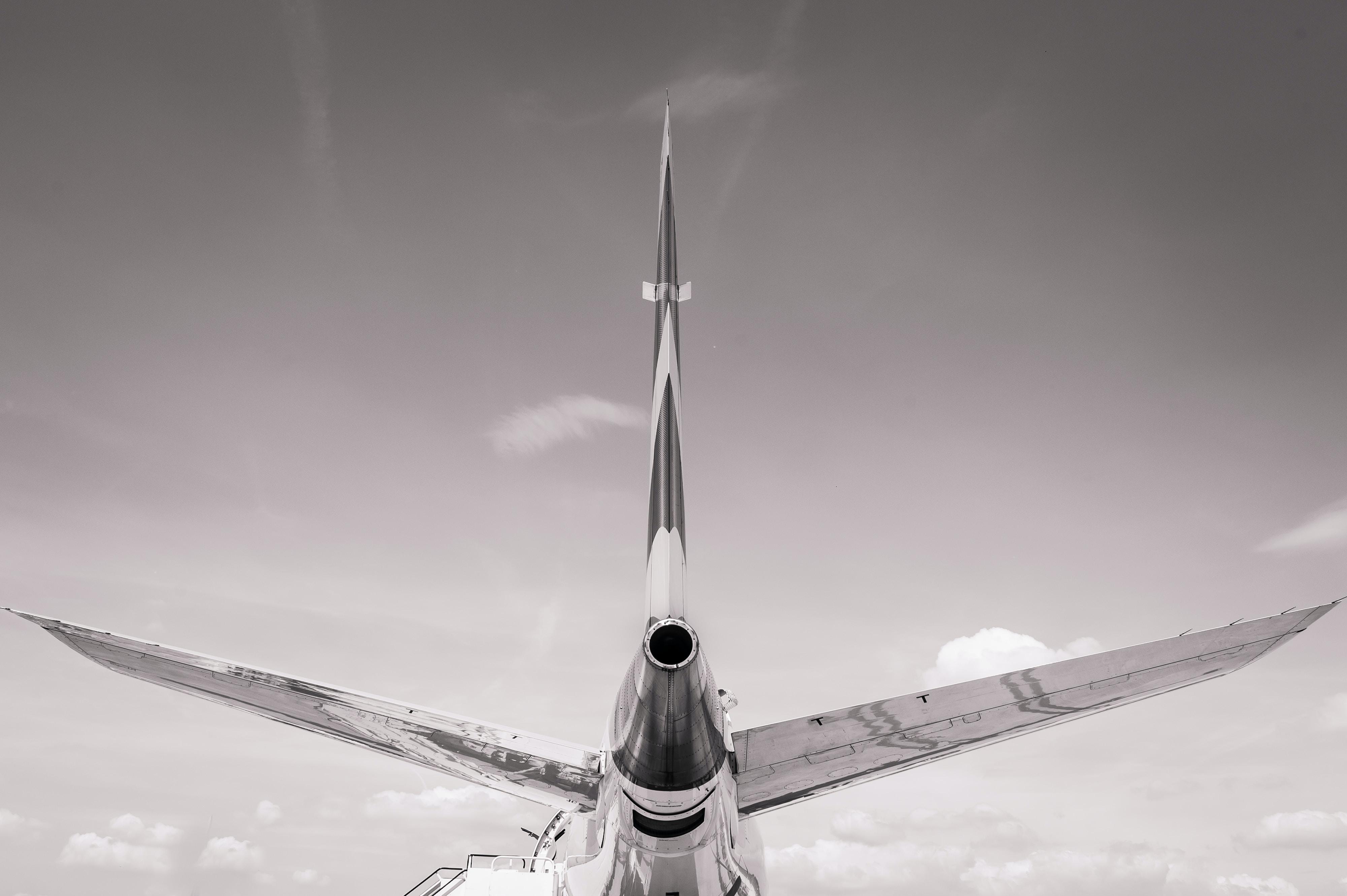 plane on flight