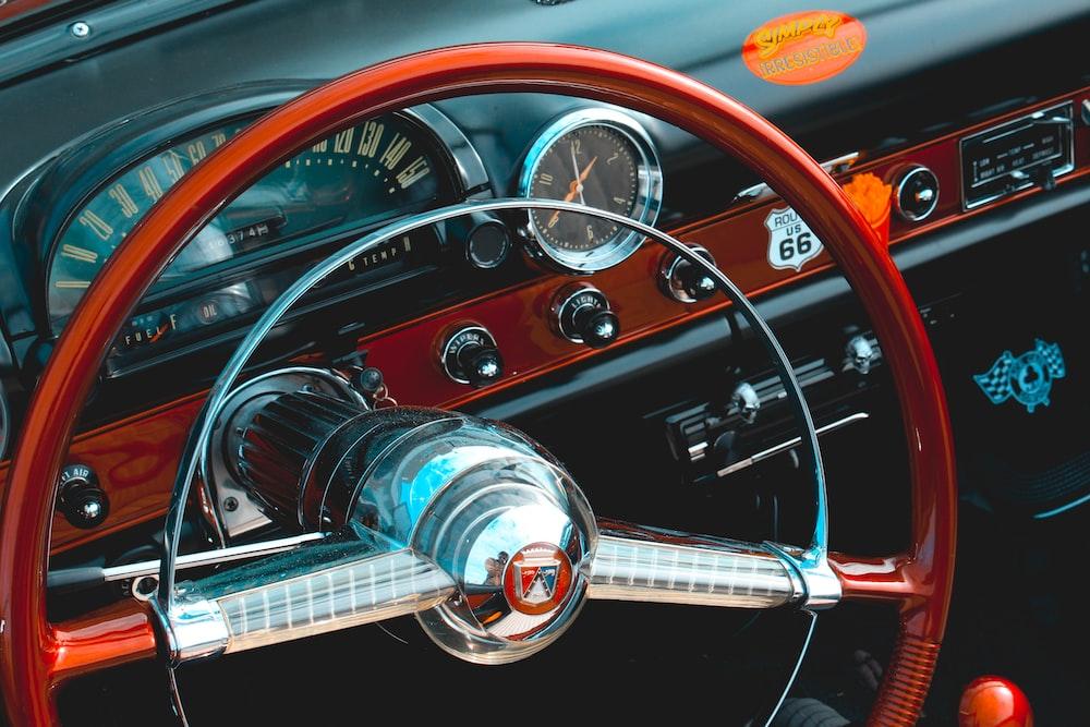 red steering wheel