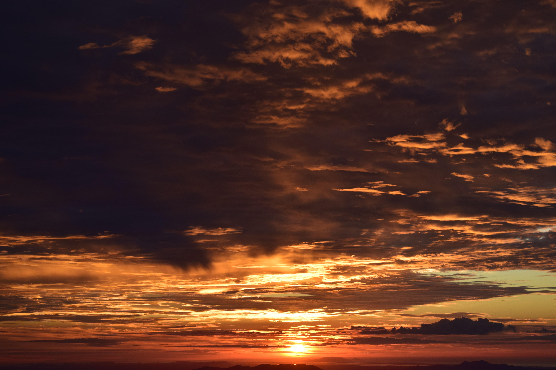 orange clouds during sunset