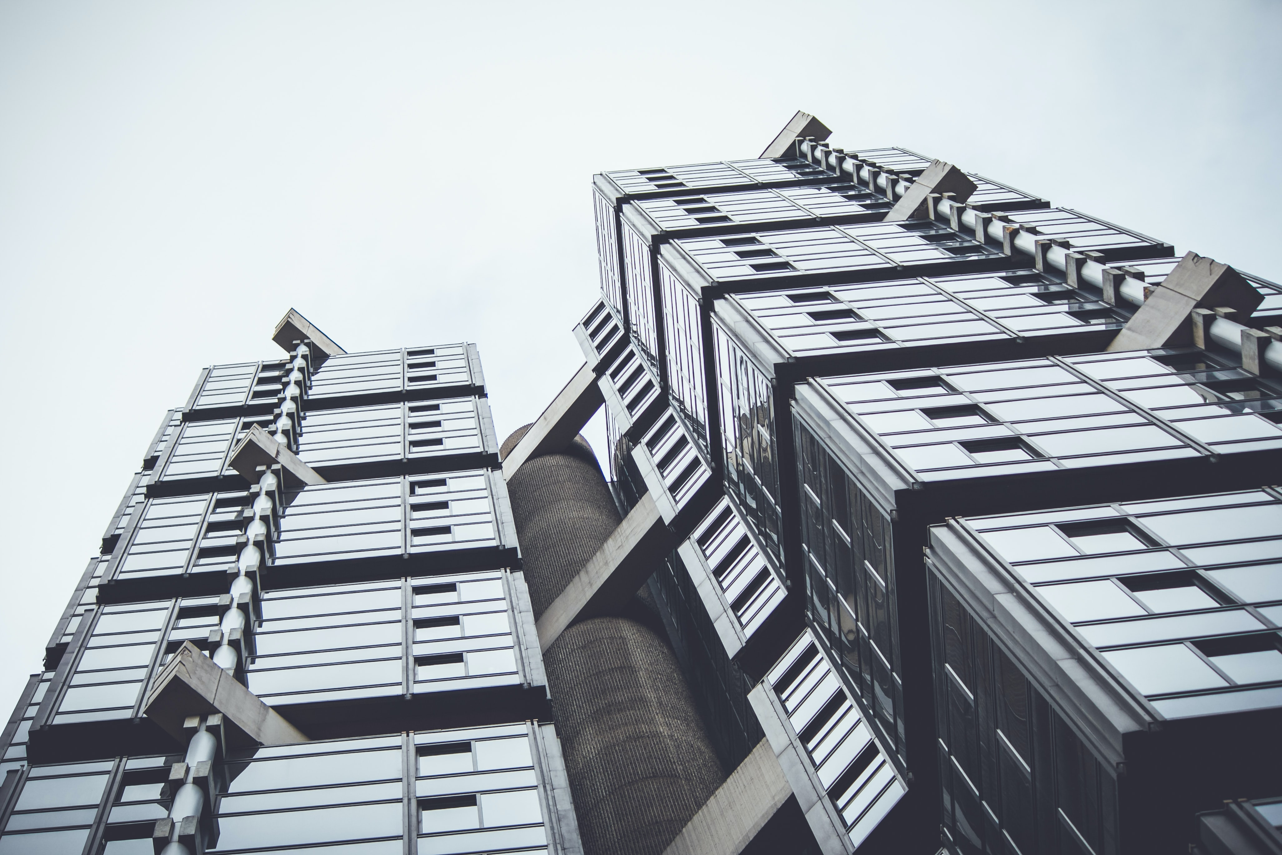 wormseye view of high-rises building