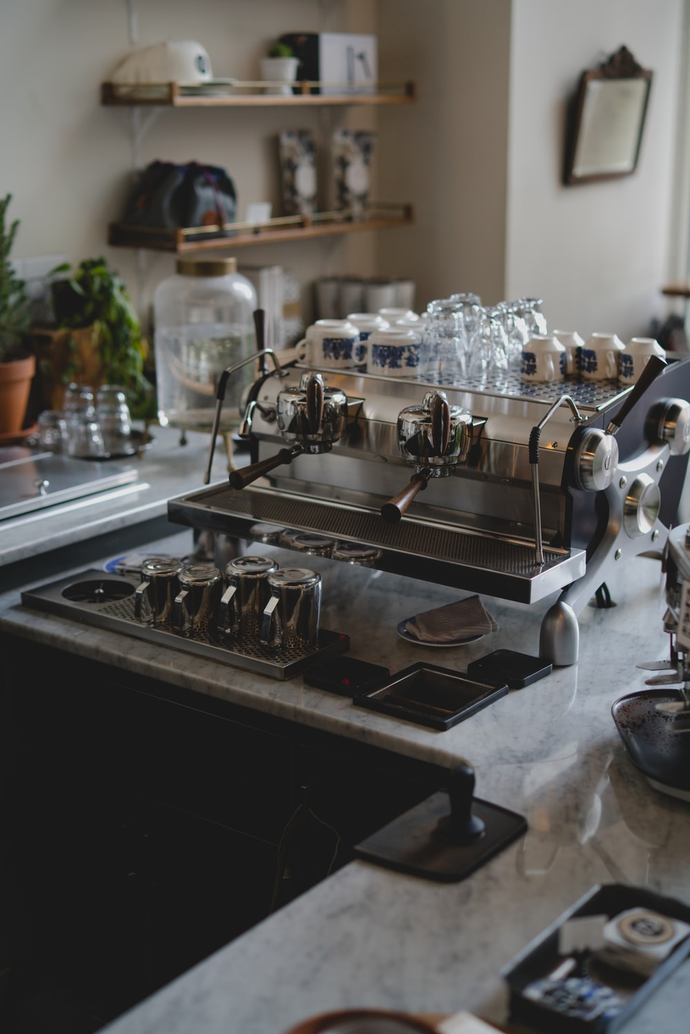 closeup photo of espresso machine