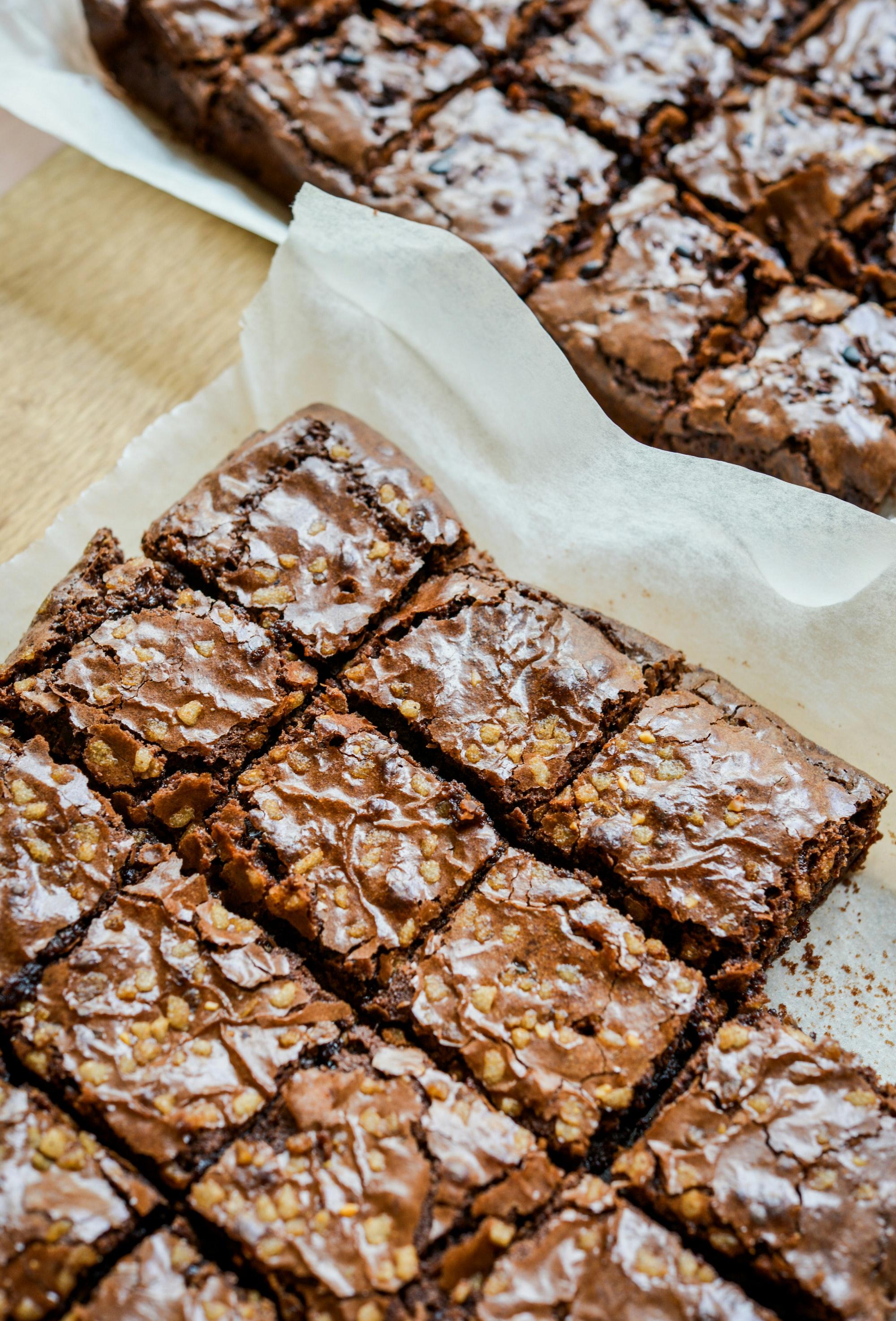 Recette brownie aux framboises sans gluten