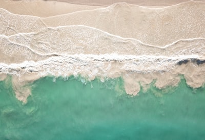 aerial view of seashore sand zoom background