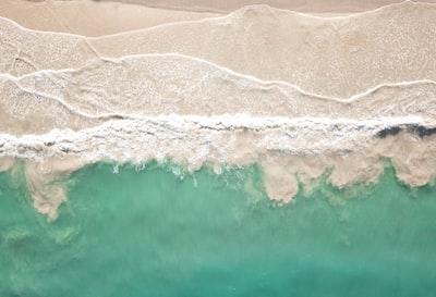 aerial view of seashore sand teams background