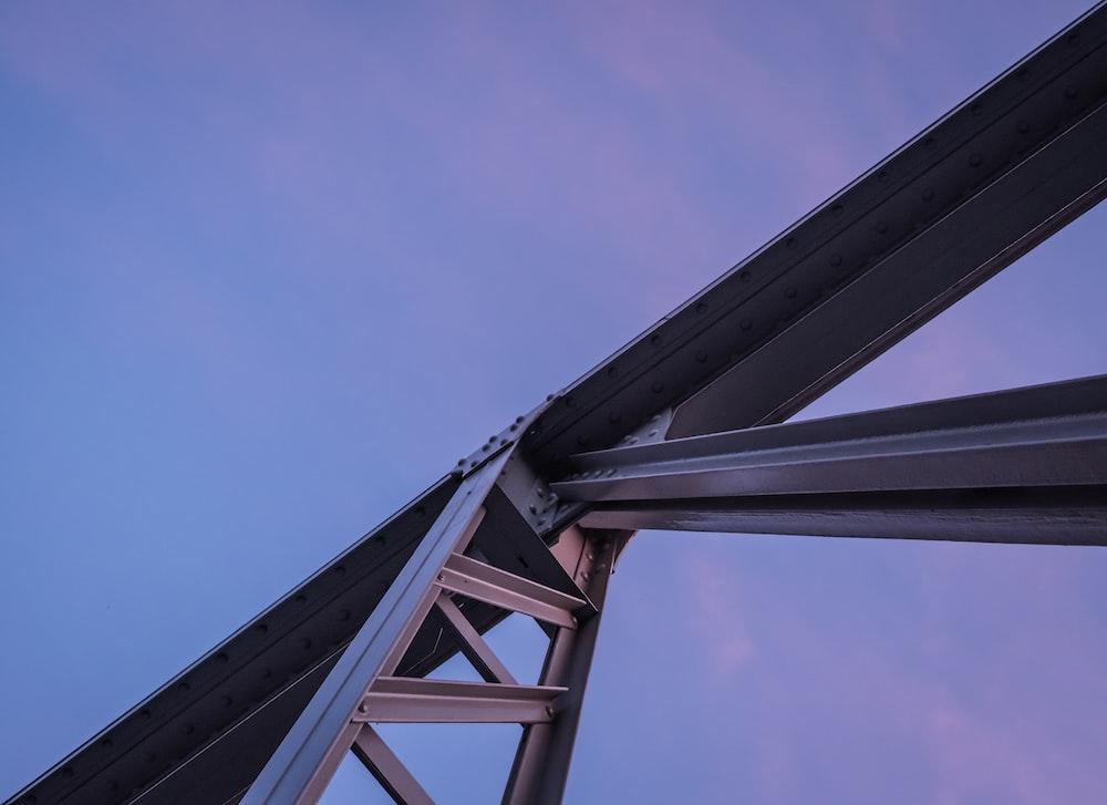 gray steel frame