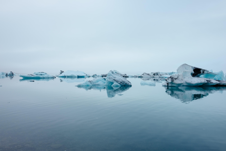 ice rocks in body of water