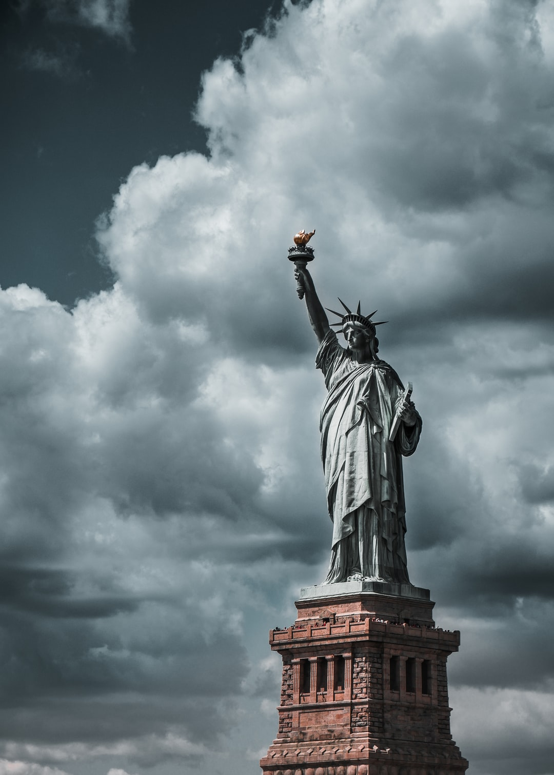 Cloud, new york, statue and liberty HD photo by Julius ...
