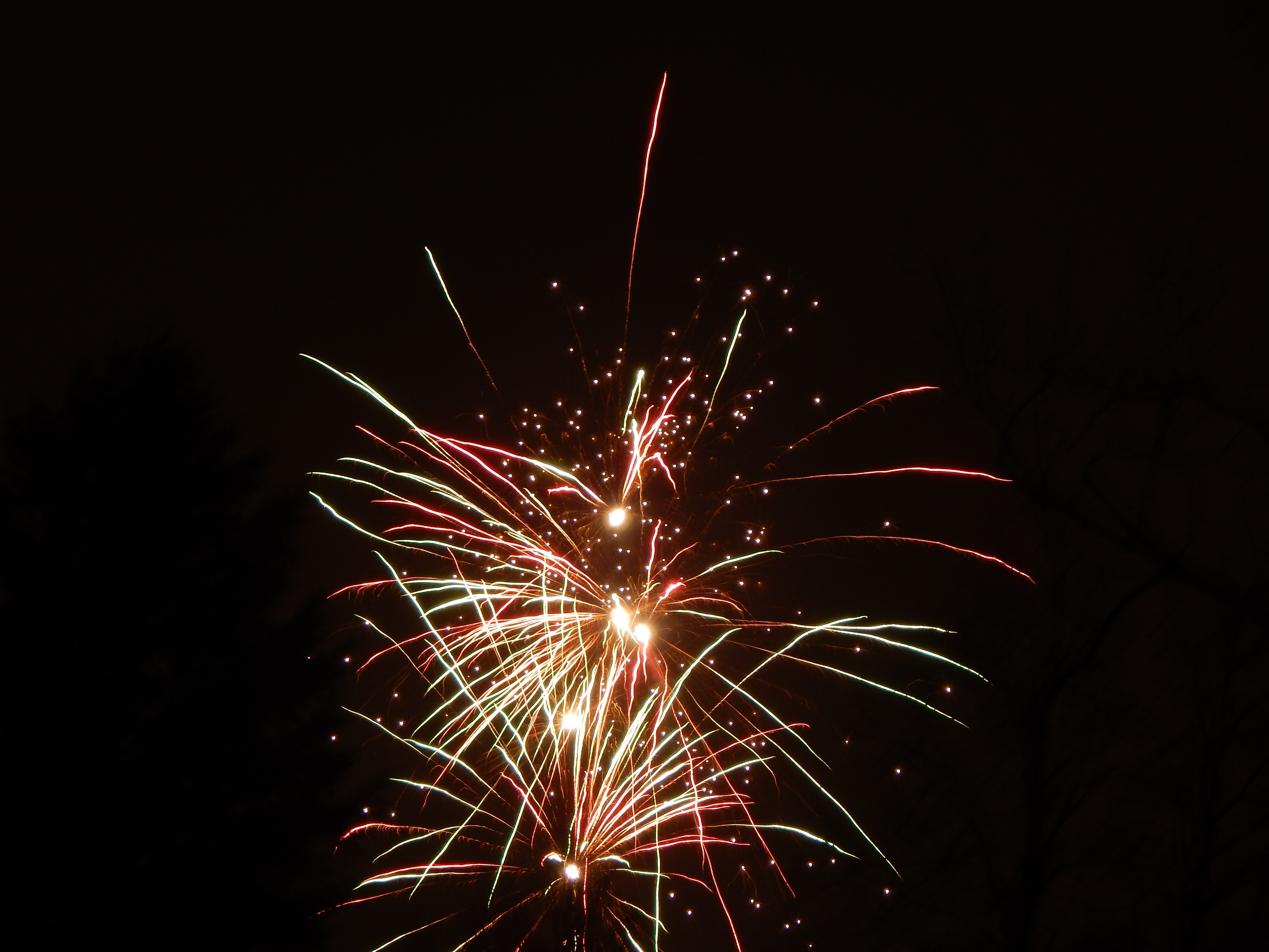 low light photography of fireworks