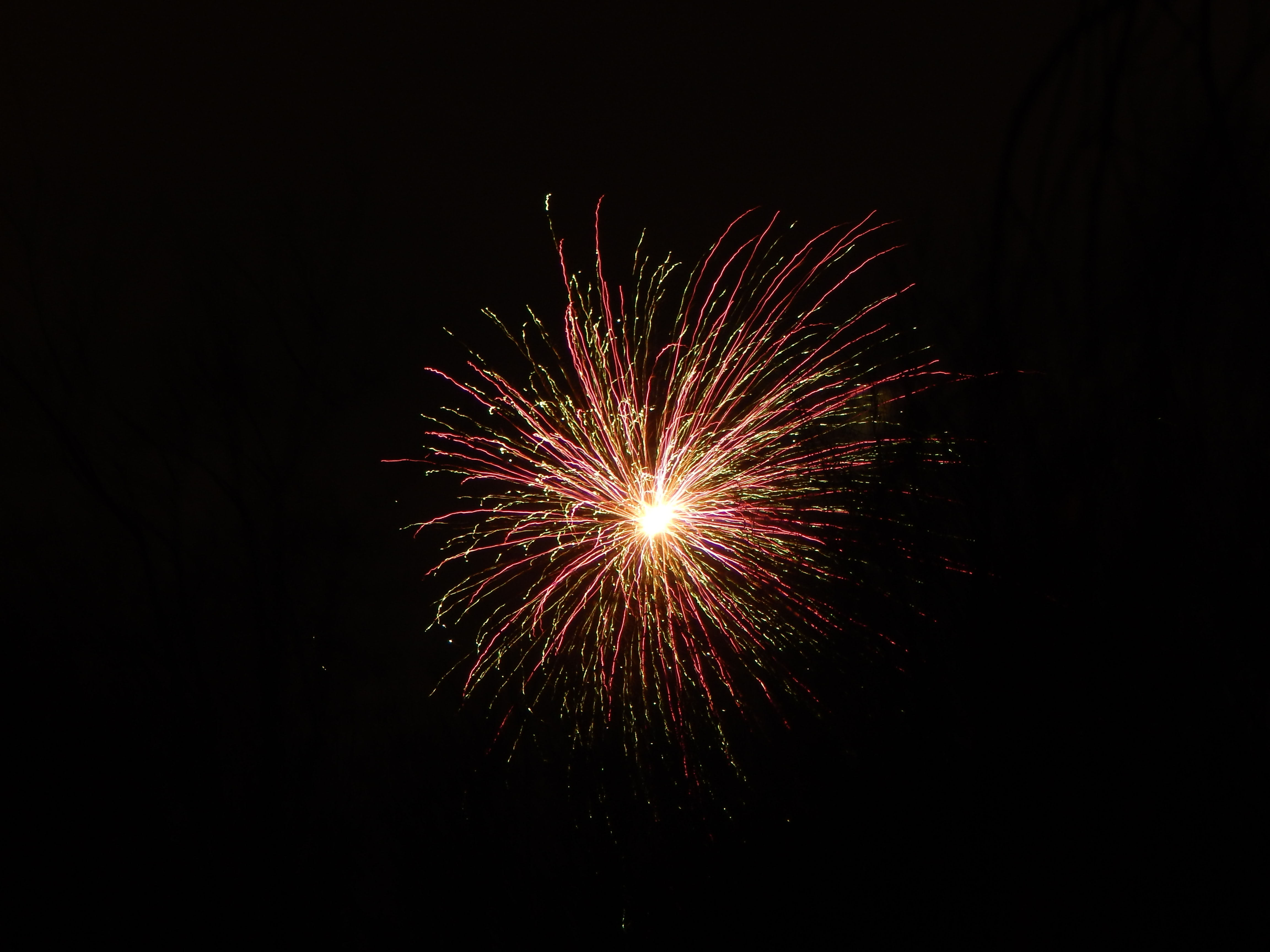 red fireworks during nighttime