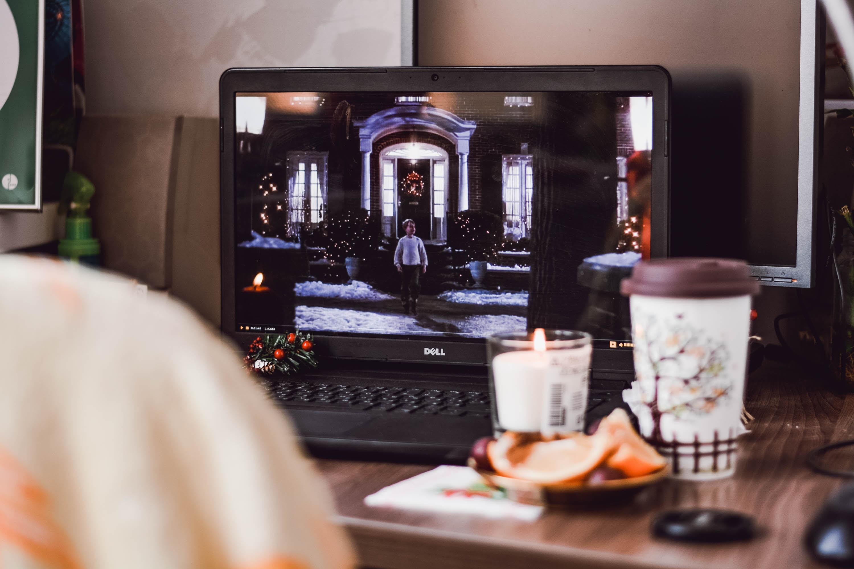 turn-on laptop on table