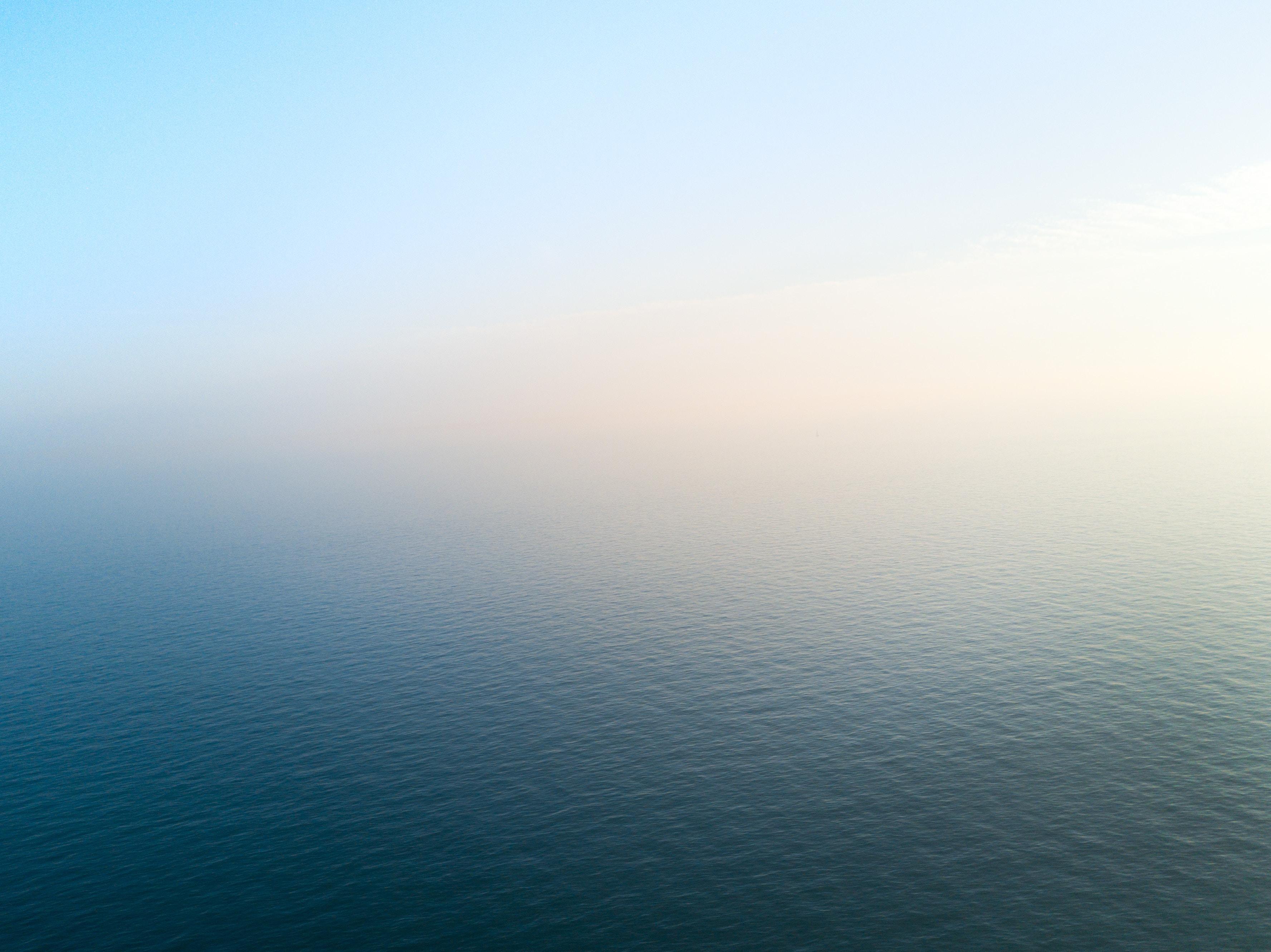 bird's eye view of calm sea