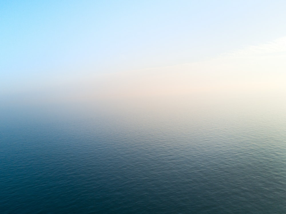 bird's eye view of calm sea