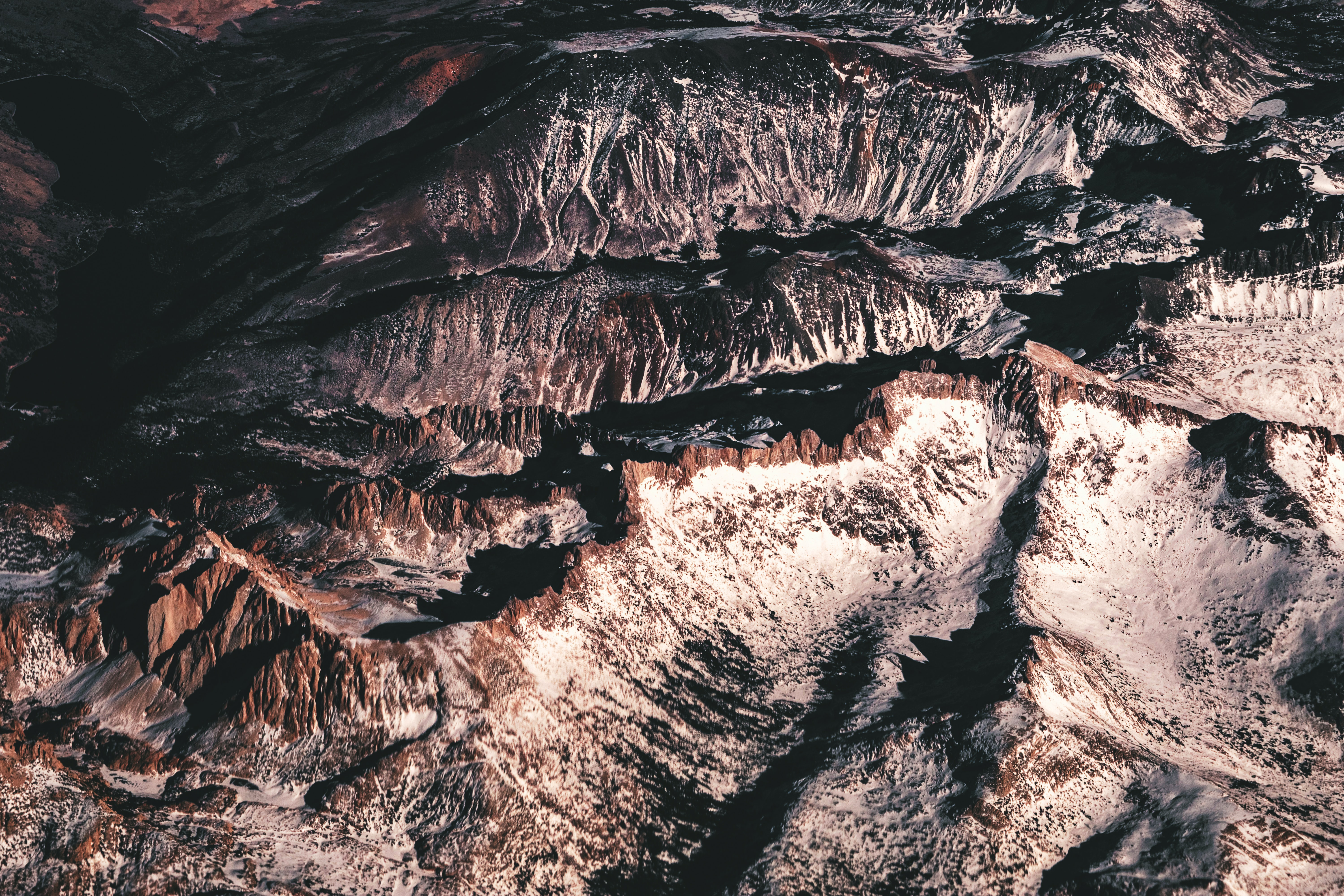 top view of rocky mountain