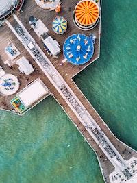 bird's eye view of carnival