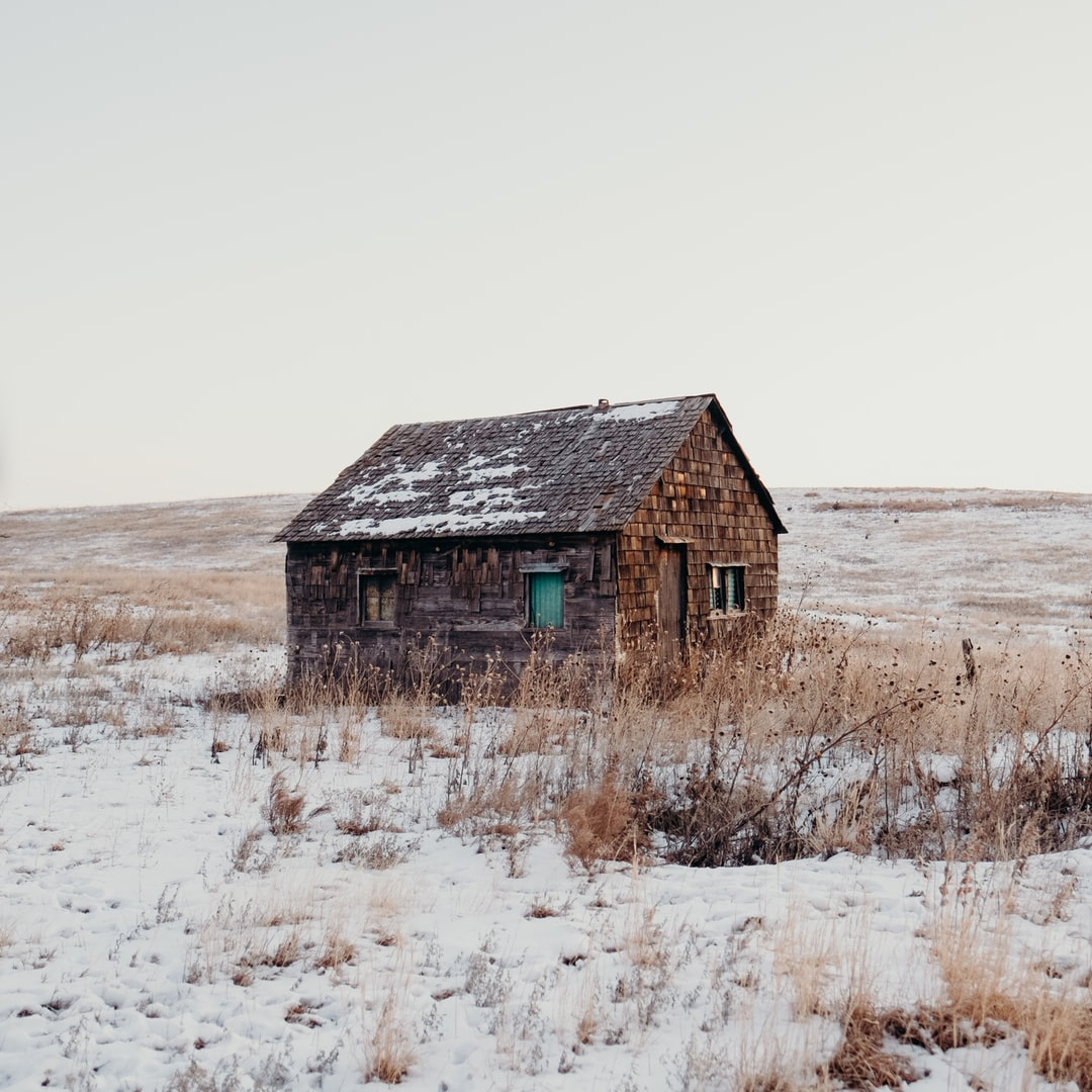 Sandhills Cabin in the Snow