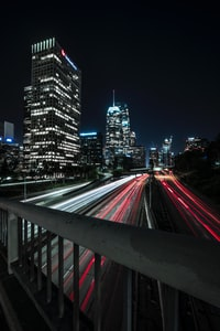 time-lapsed photography of city lights