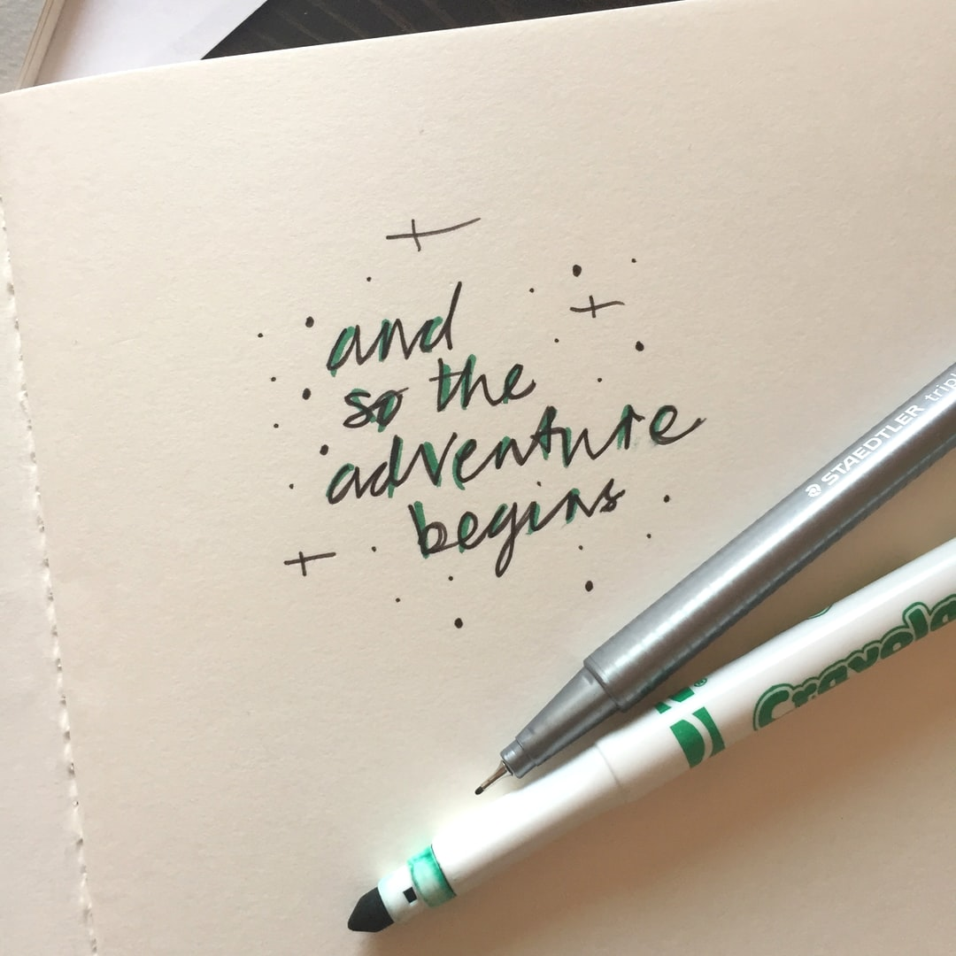 New Year, full of potential. Handlettering some inspiration.
