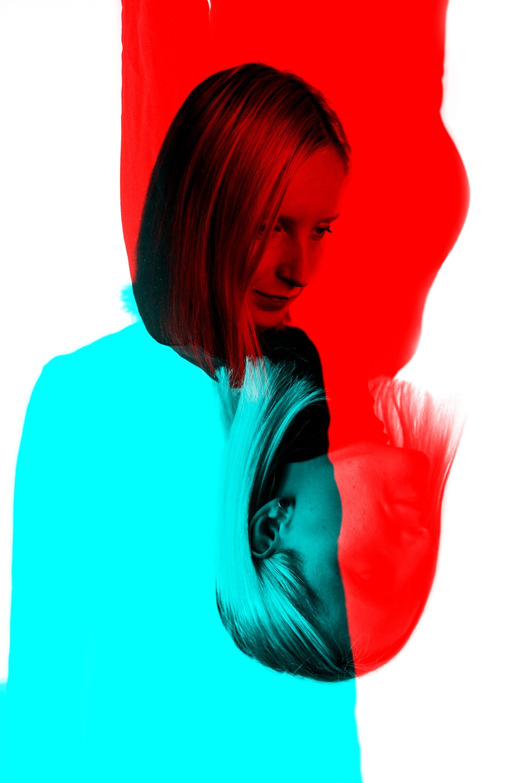 photograph of woman digital wallpaper