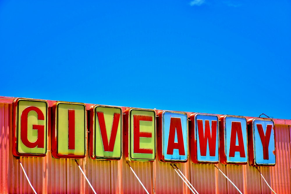 Giveaway warehouse signage