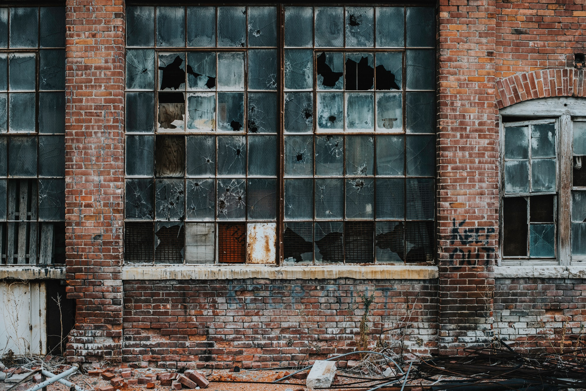 An abandoned warehouse located in Loveland, Colorado.