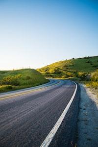photo of black concrete road