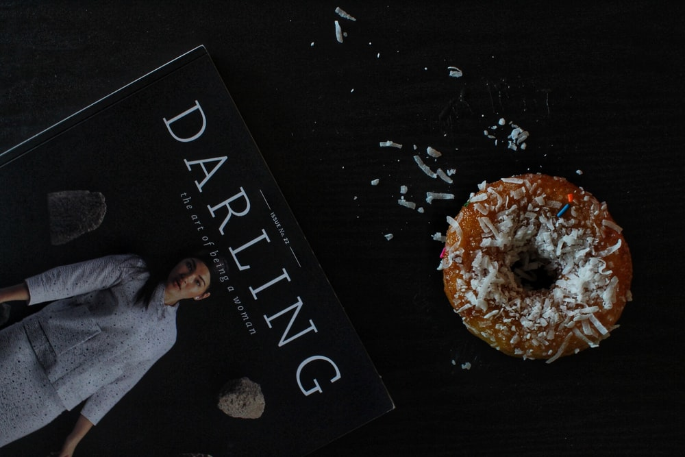 Darling book on black surface