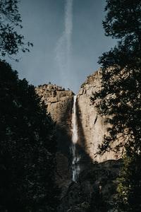 long exposure photography of waterfalls