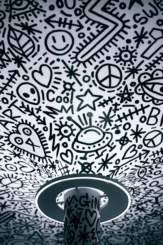 Closeup Photo Of White And Black Wallpaper