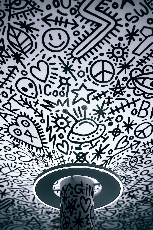 Black and white girl art wallpaper homecid