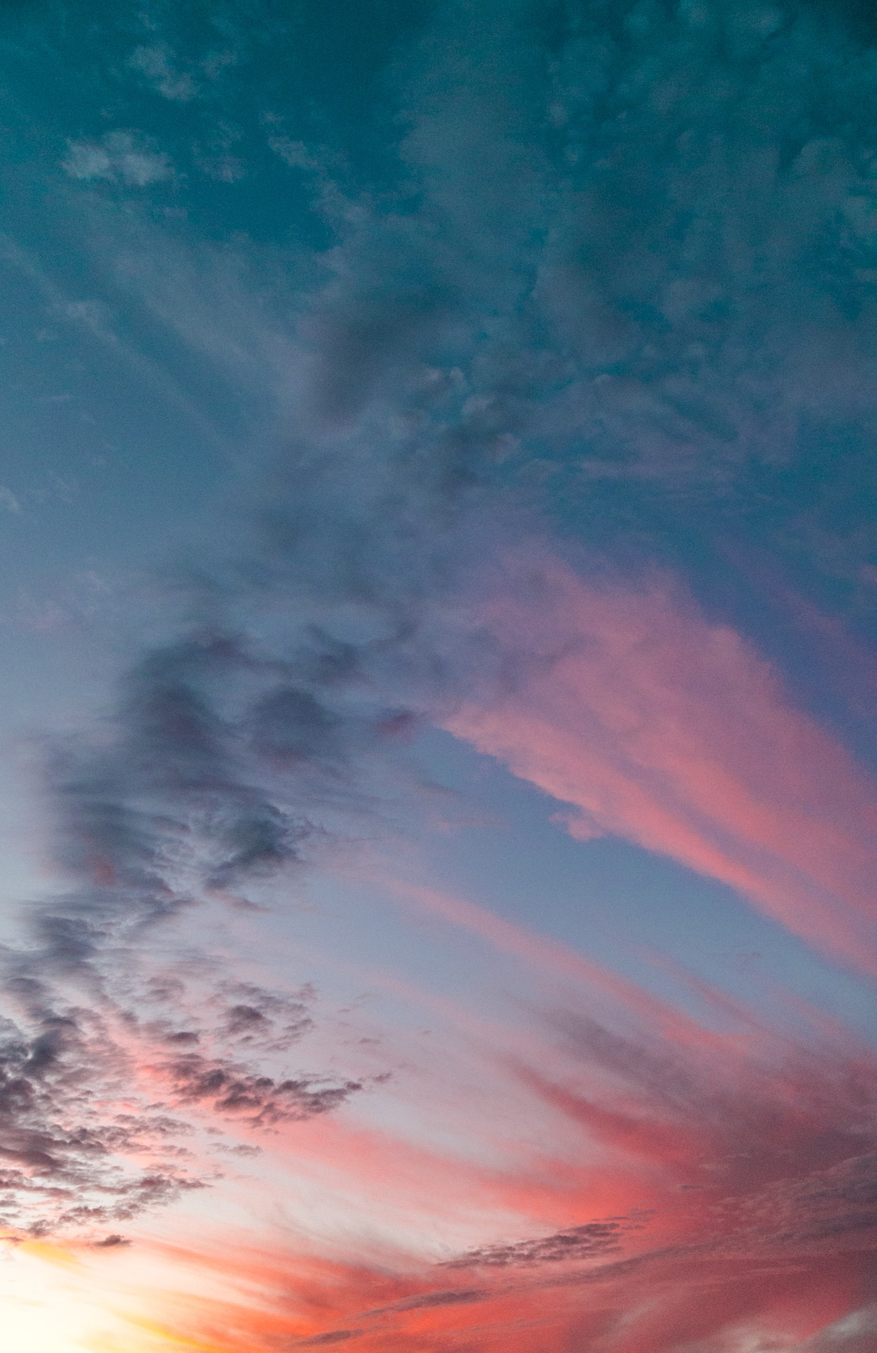 low angle photography of sky and clouds