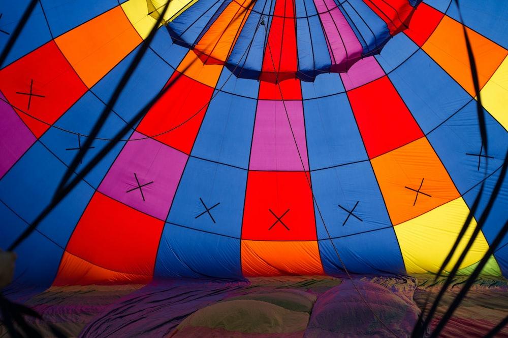 multicolored tent