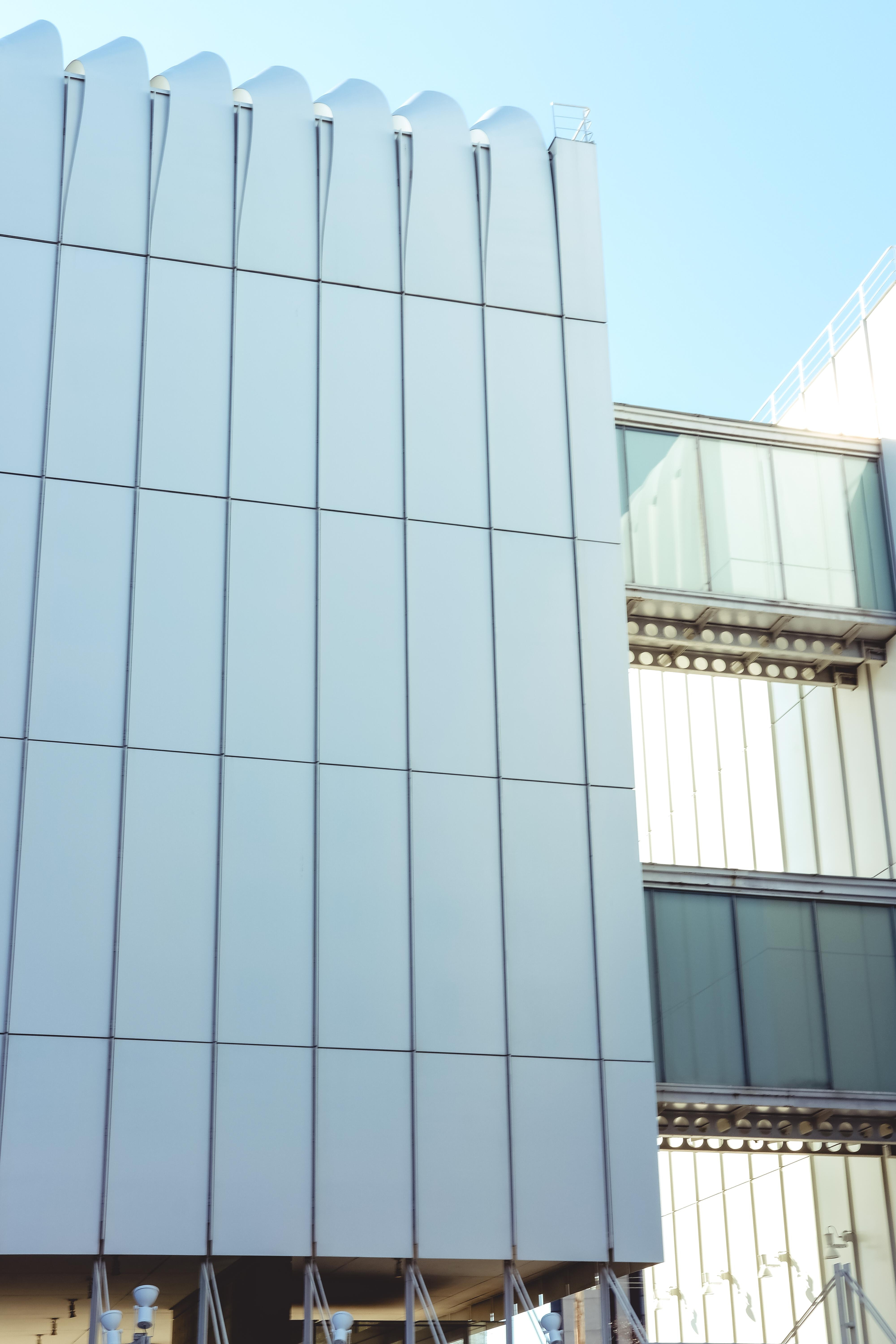 white glass building
