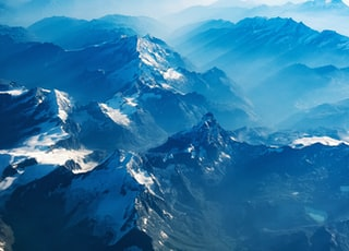 bird's eye view of mountains