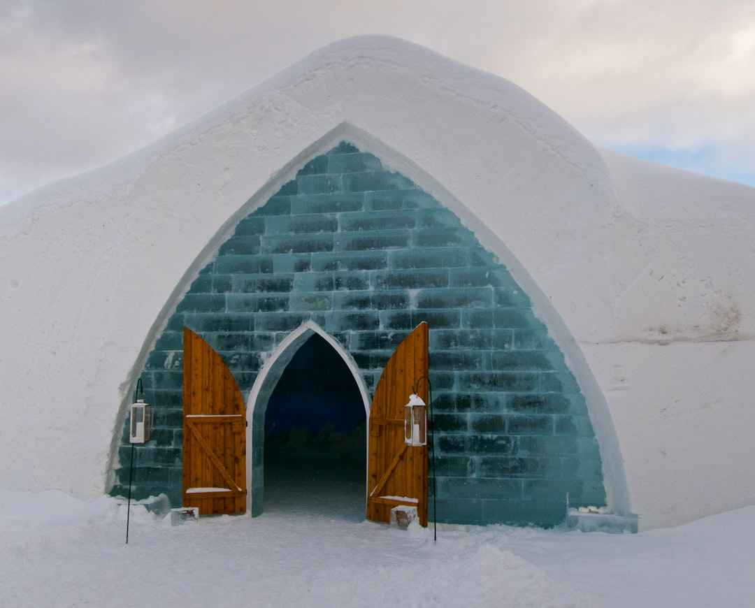 The Hotel De Glace is created each year in Quebec, Canada.  It is part sculpture and part hotel.
