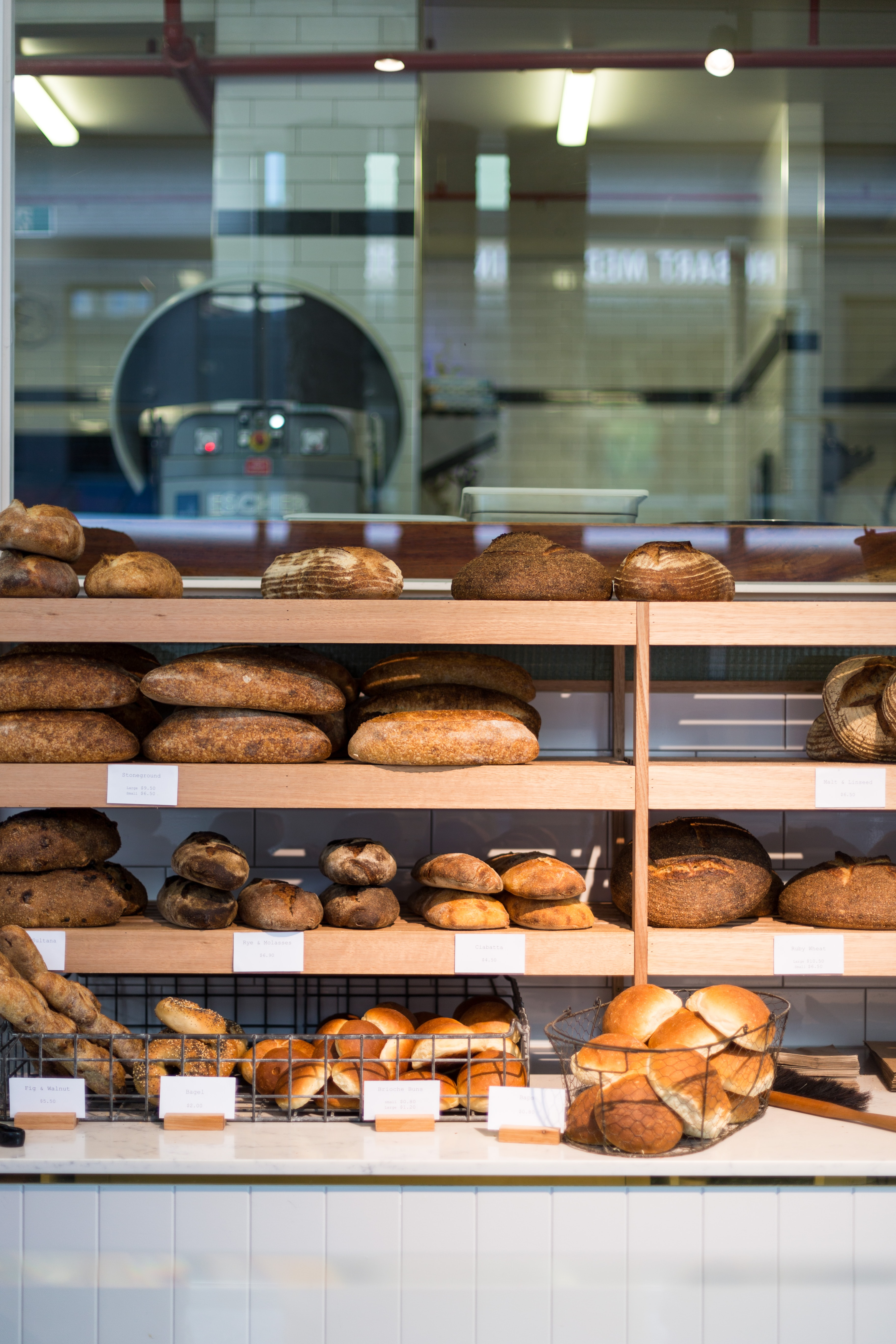 pastry bread on wooden rack