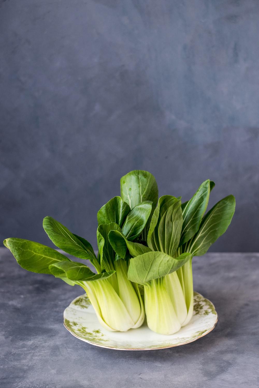 green vegetable on plate