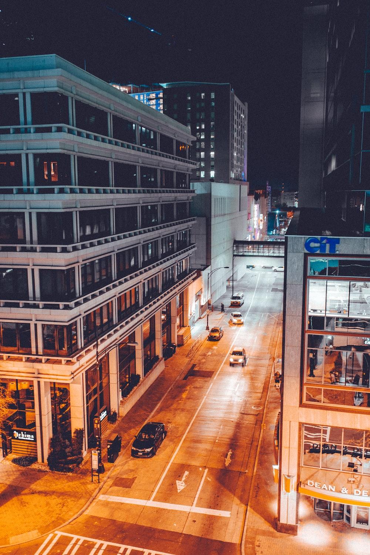 vehicles near buildings