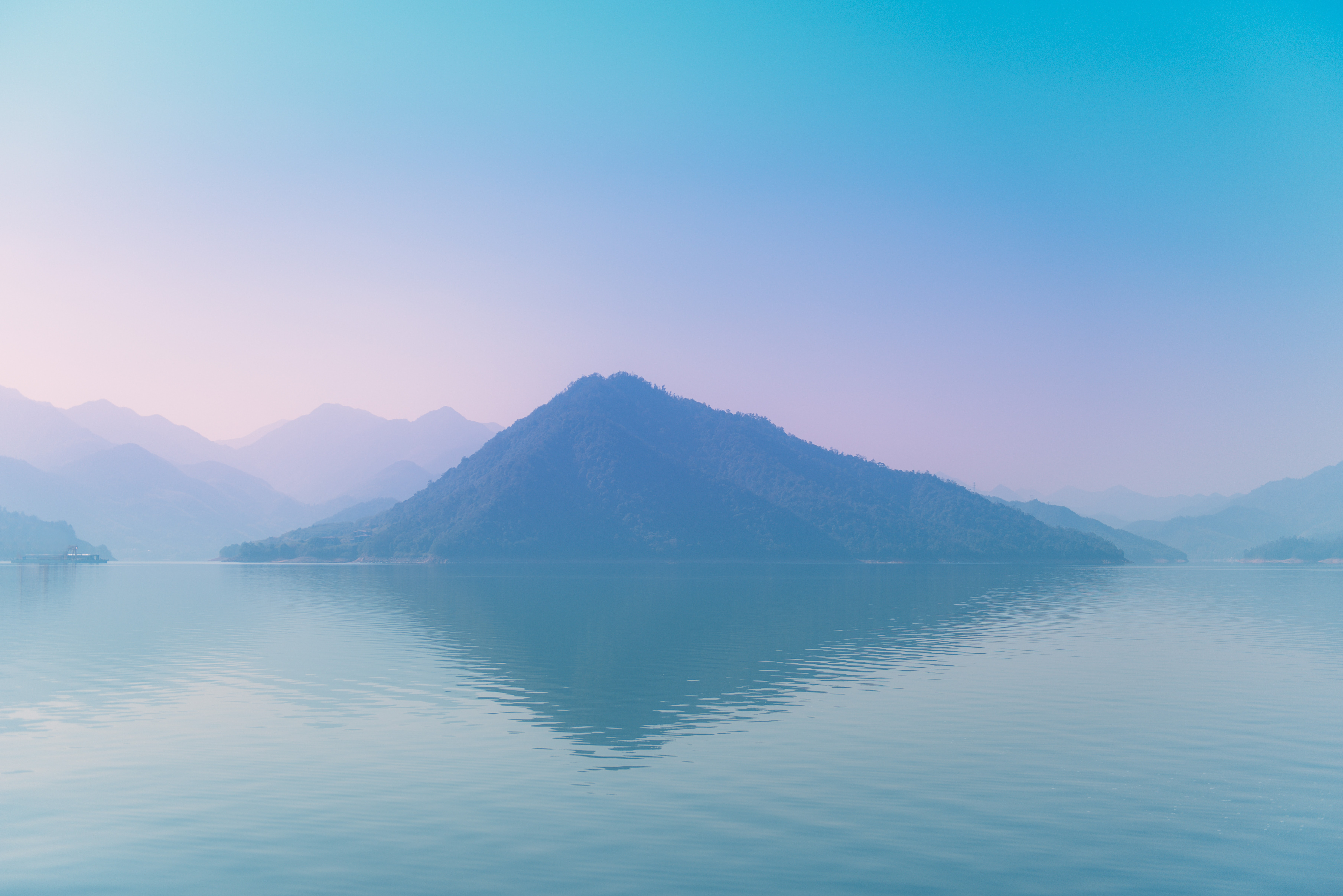 mountain surround by body of water